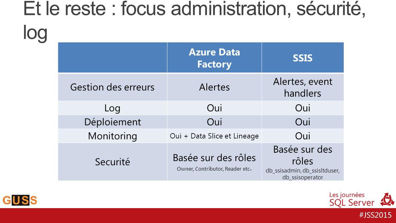 Et le reste : focus administration, sécurité, log
