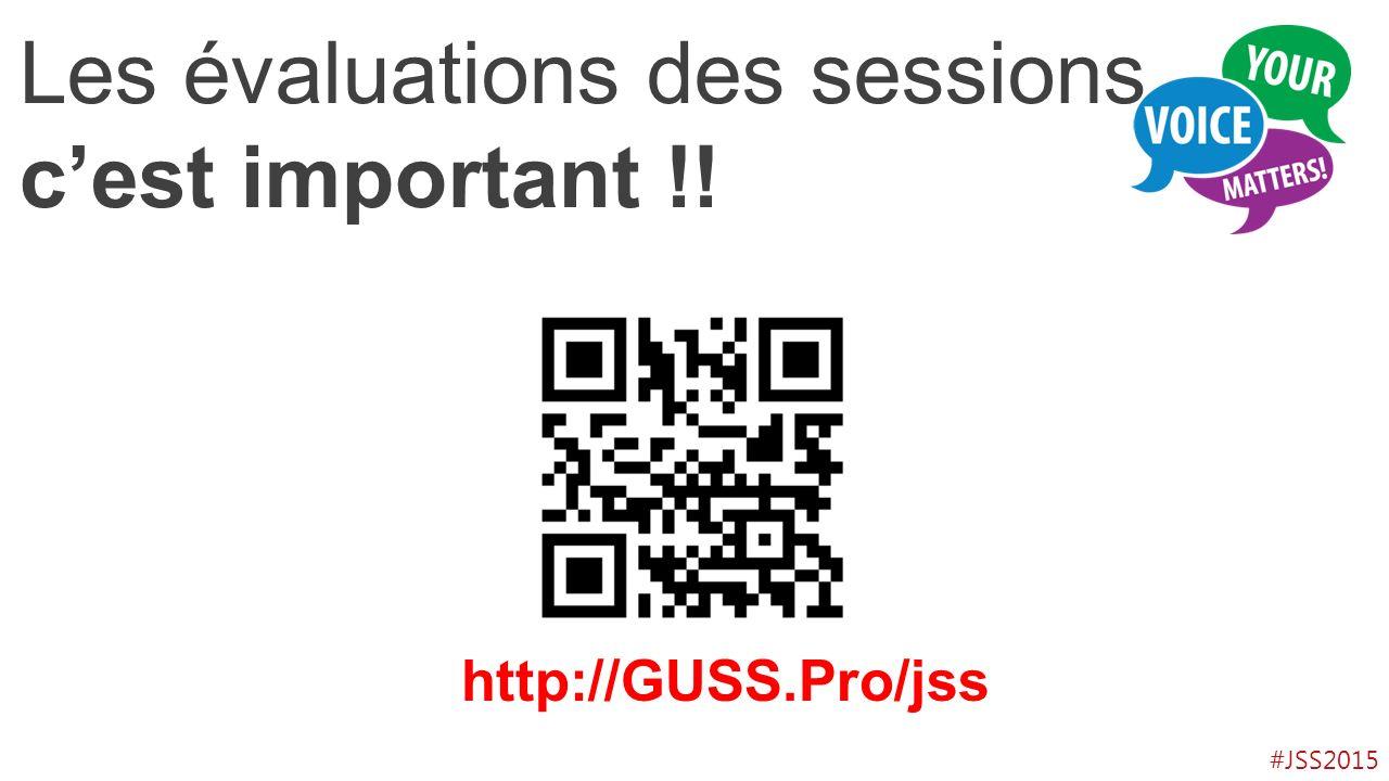 Les évaluations des sessions, c'est important !!