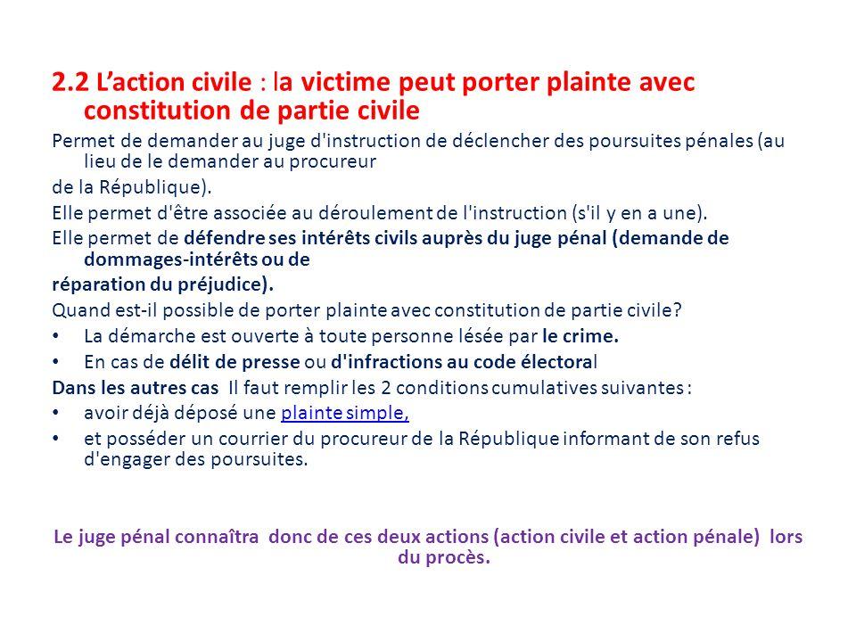 Th me 2 chap 6 l auteur d une infraction ppt video - Porter plainte aupres du procureur de la republique ...