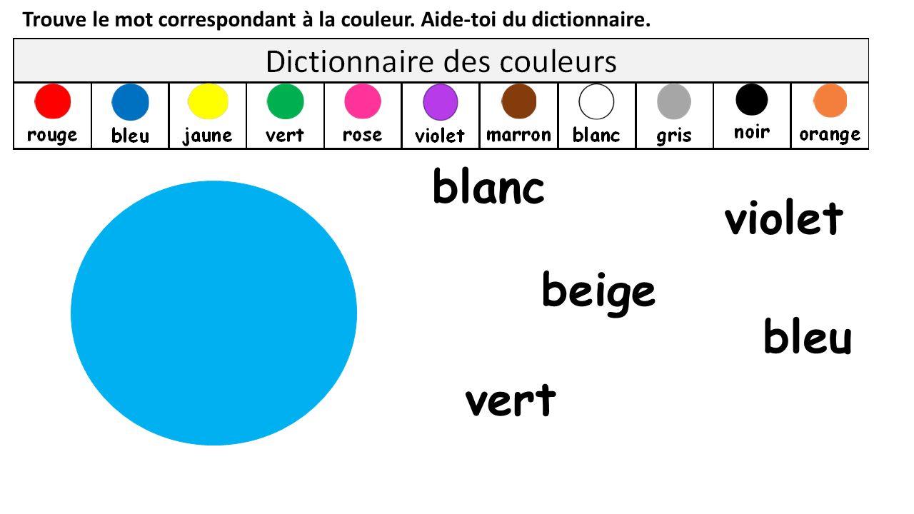 blanc violet beige bleu vert