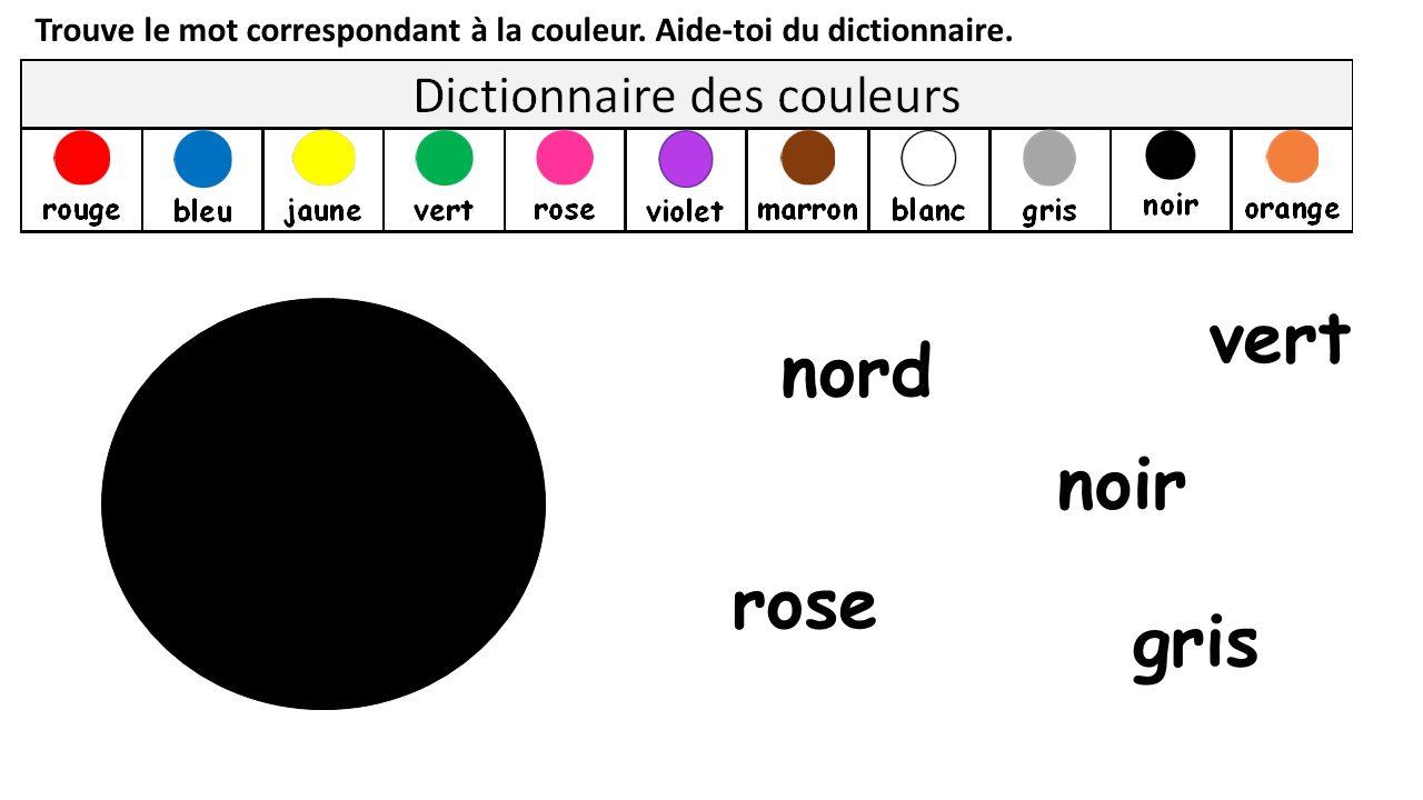 vert nord noir rose gris
