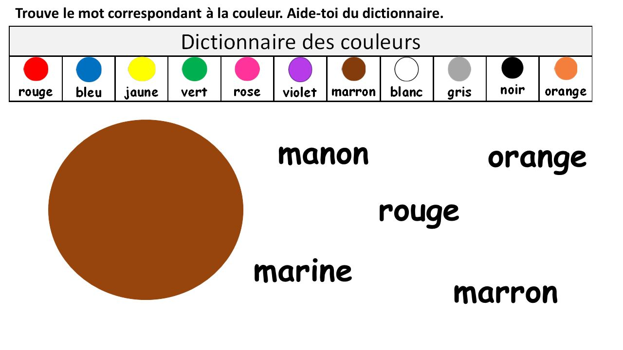 manon orange rouge marine marron