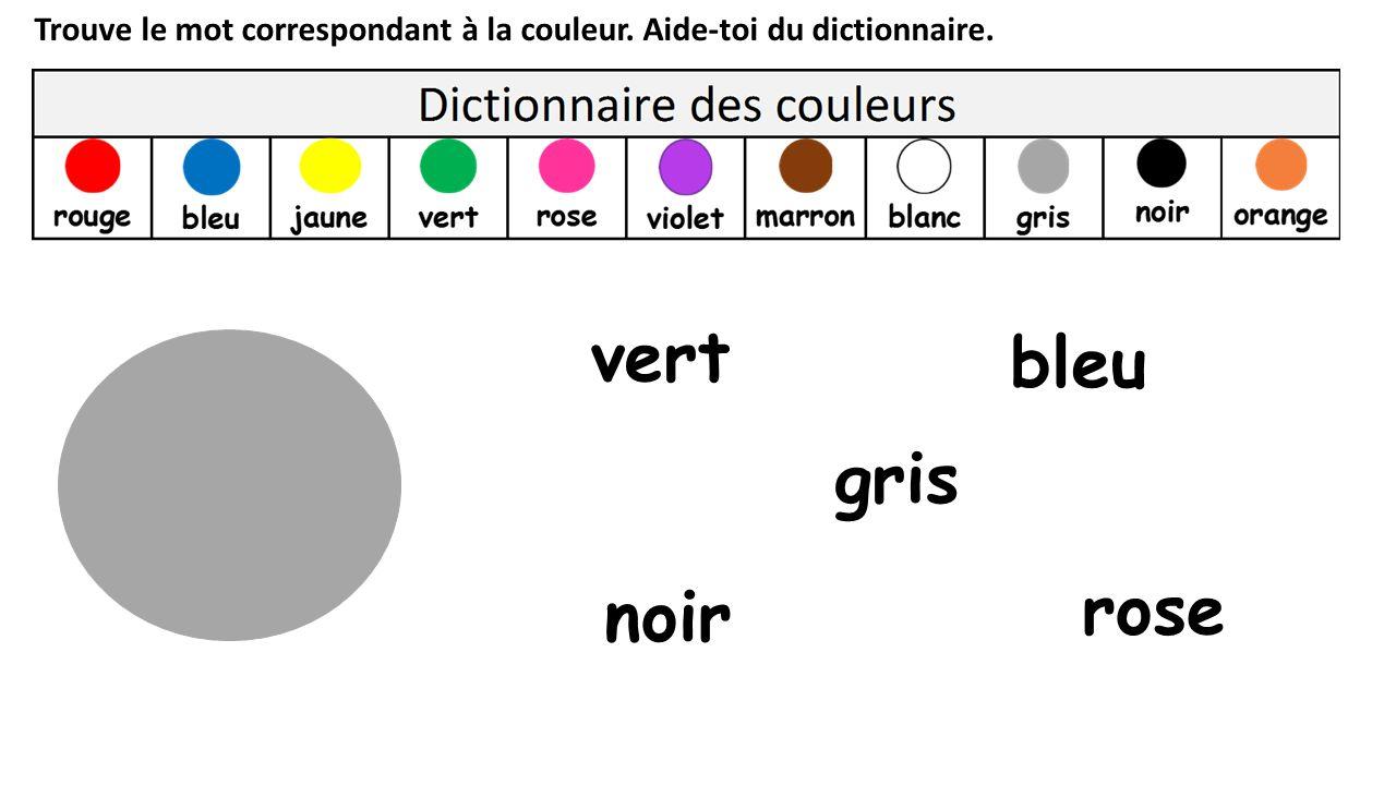 vert bleu gris rose noir