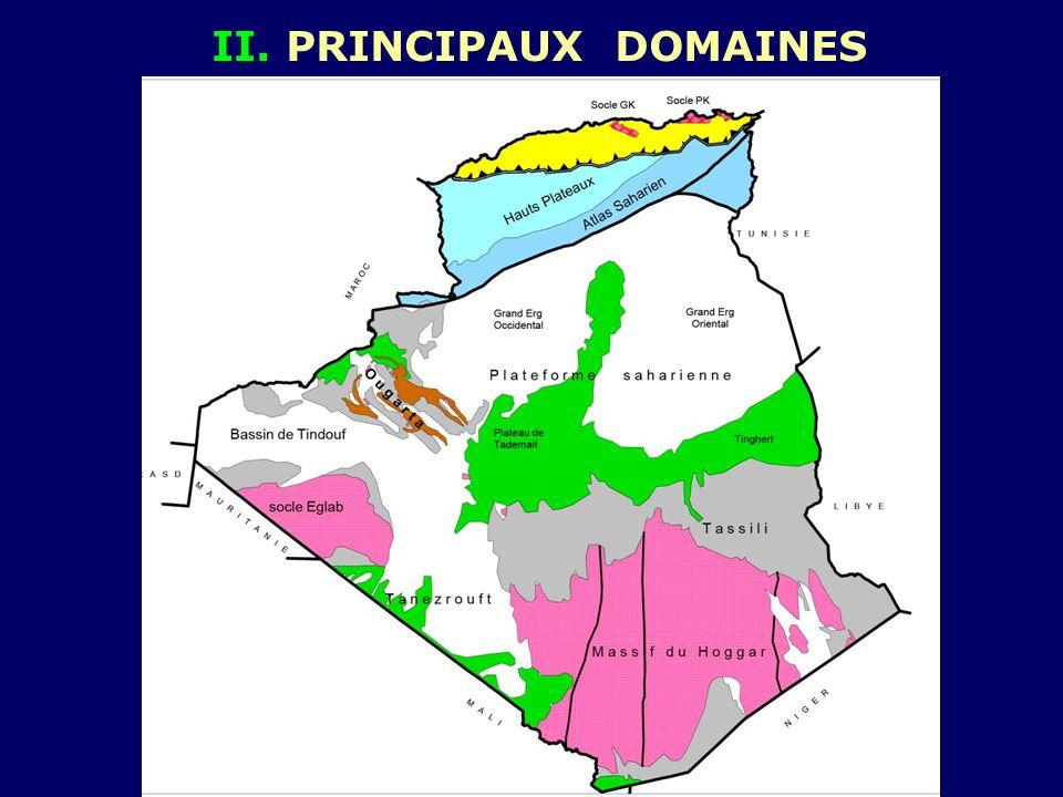 II. PRINCIPAUX DOMAINES
