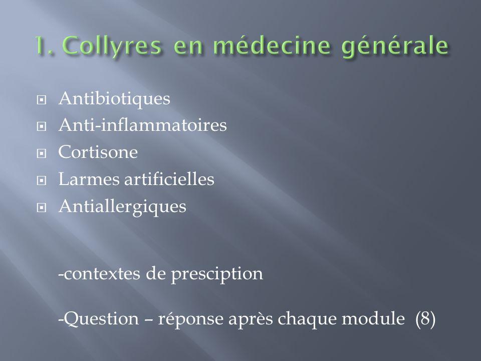 Question-Réponse Ophtalmologie en médecine générale - ppt
