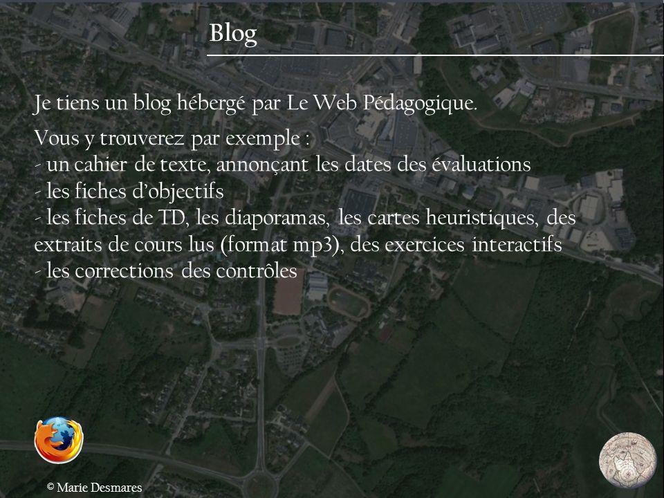Blog Je tiens un blog hébergé par Le Web Pédagogique.