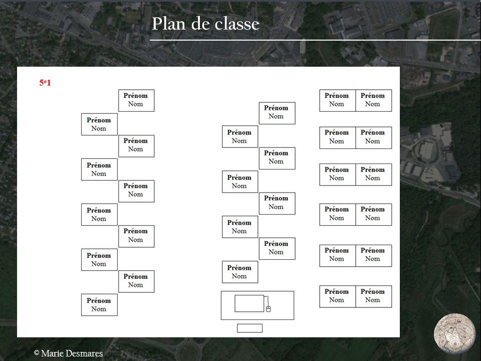 Plan de classe © Marie Desmares