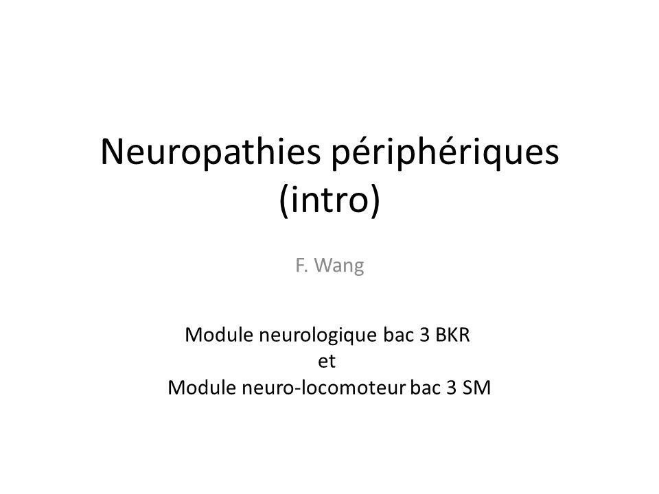 Neuropathies périphériques (intro)