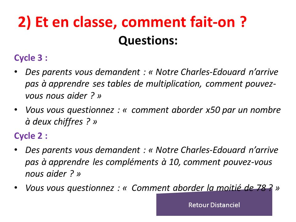 Enseigner le calcul mental ppt t l charger - Comment apprendre la table de multiplication ...