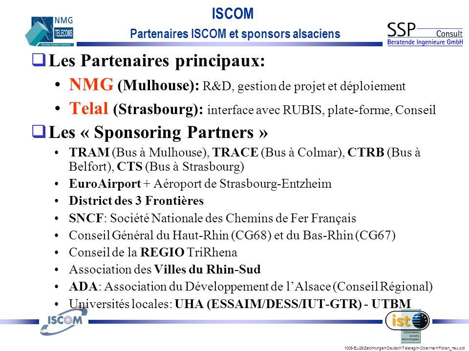Partenaires ISCOM et sponsors alsaciens