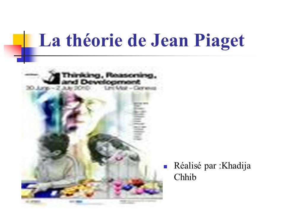 La théorie de Jean Piaget