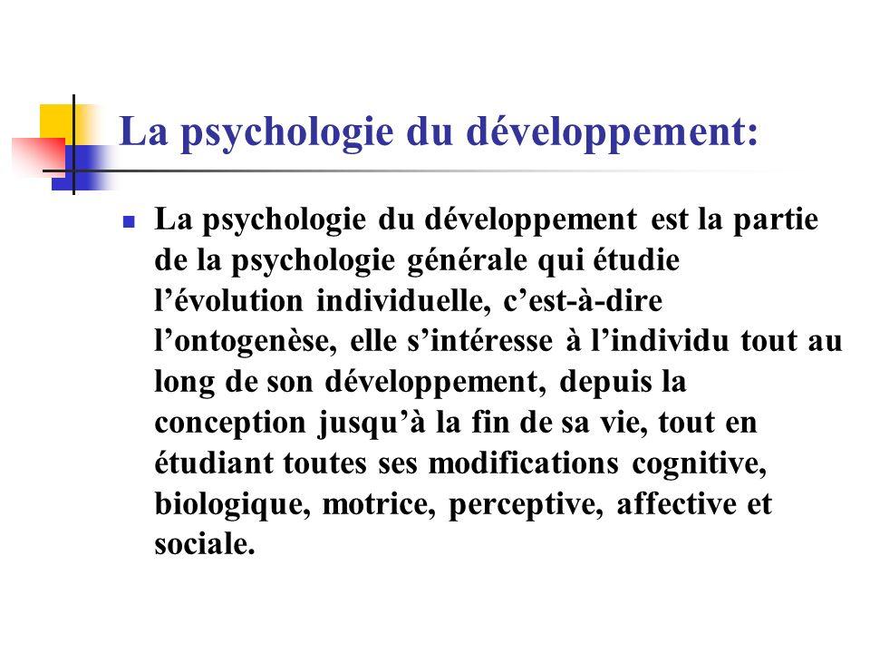 La psychologie du développement: