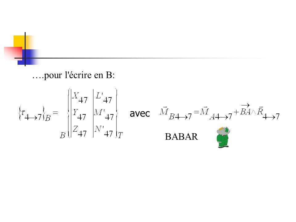 ….pour l écrire en B: avec BABAR