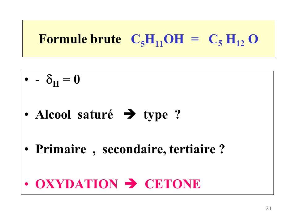 alcool primaire secondaire tertiaire oxydation