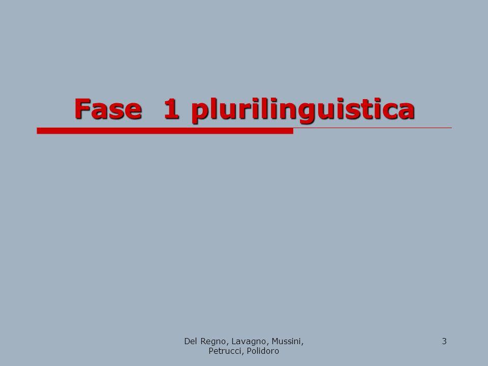 Fase 1 plurilinguistica
