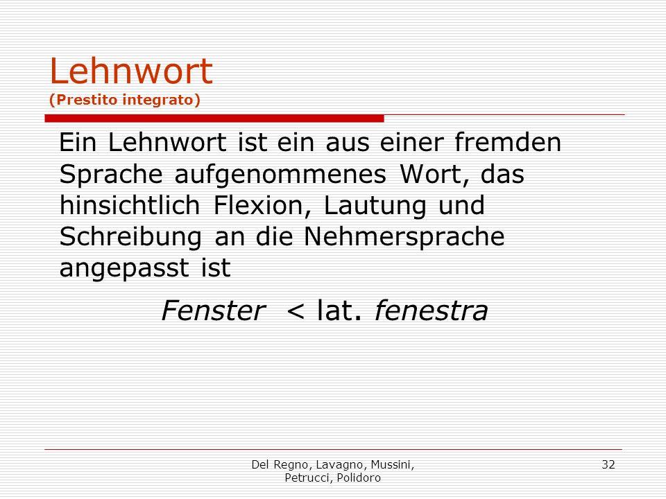 Lehnwort (Prestito integrato)