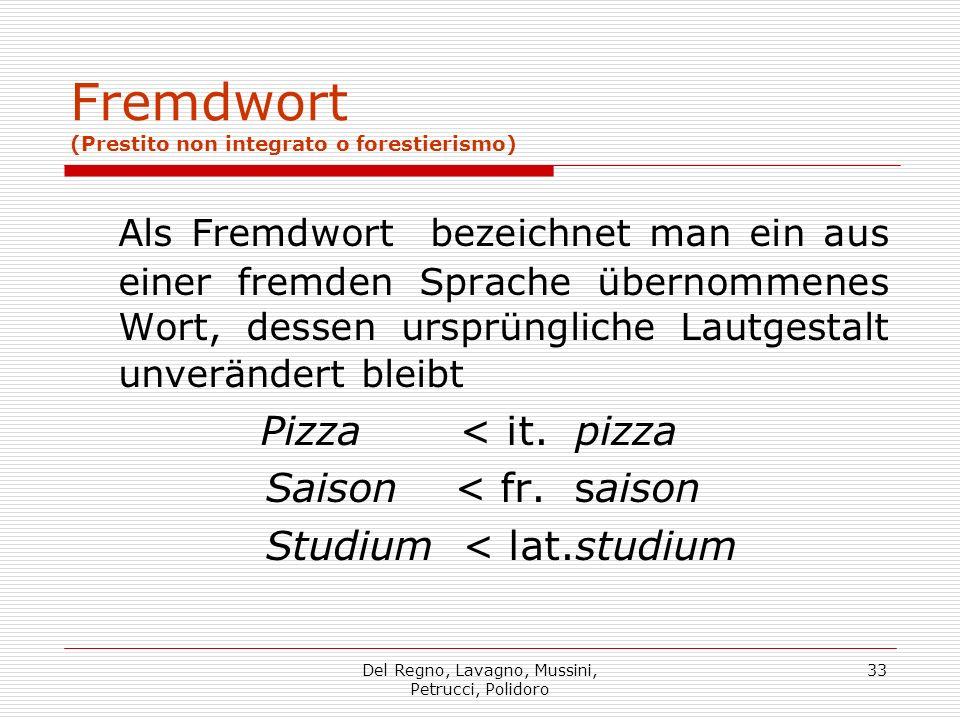 Fremdwort (Prestito non integrato o forestierismo)