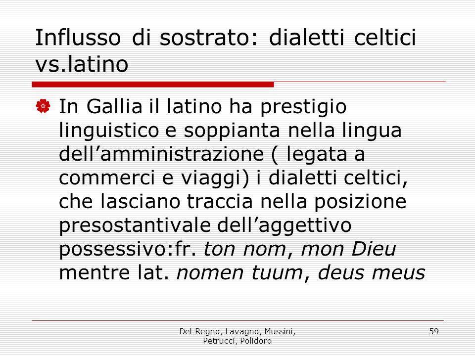Influsso di sostrato: dialetti celtici vs.latino