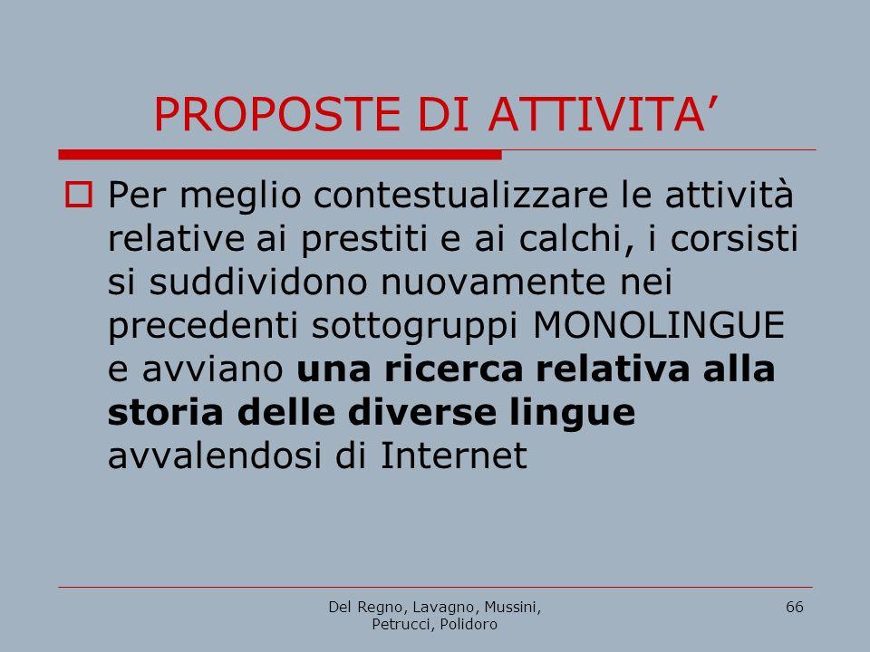 Del Regno, Lavagno, Mussini, Petrucci, Polidoro