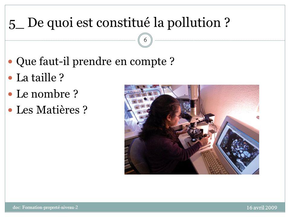 5_ De quoi est constitué la pollution