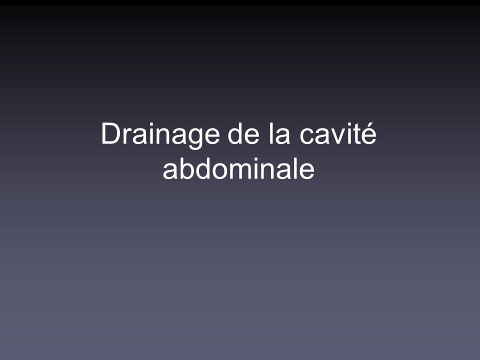 Drainage de la cavité abdominale
