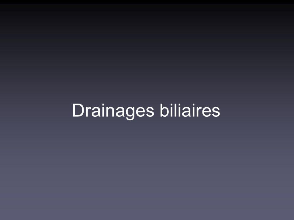 Drainages biliaires