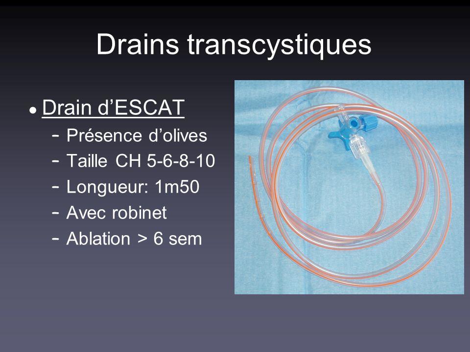 Drains transcystiques