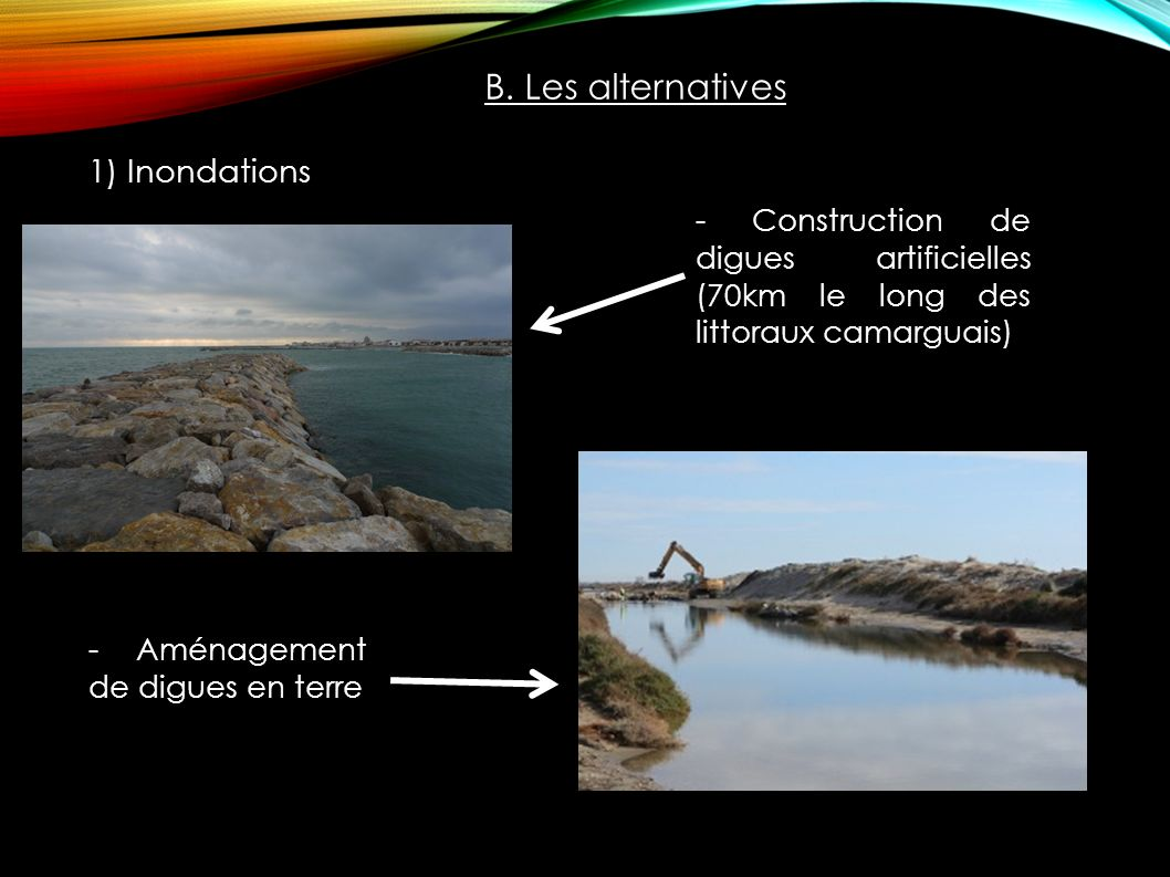 B. Les alternatives 1) Inondations