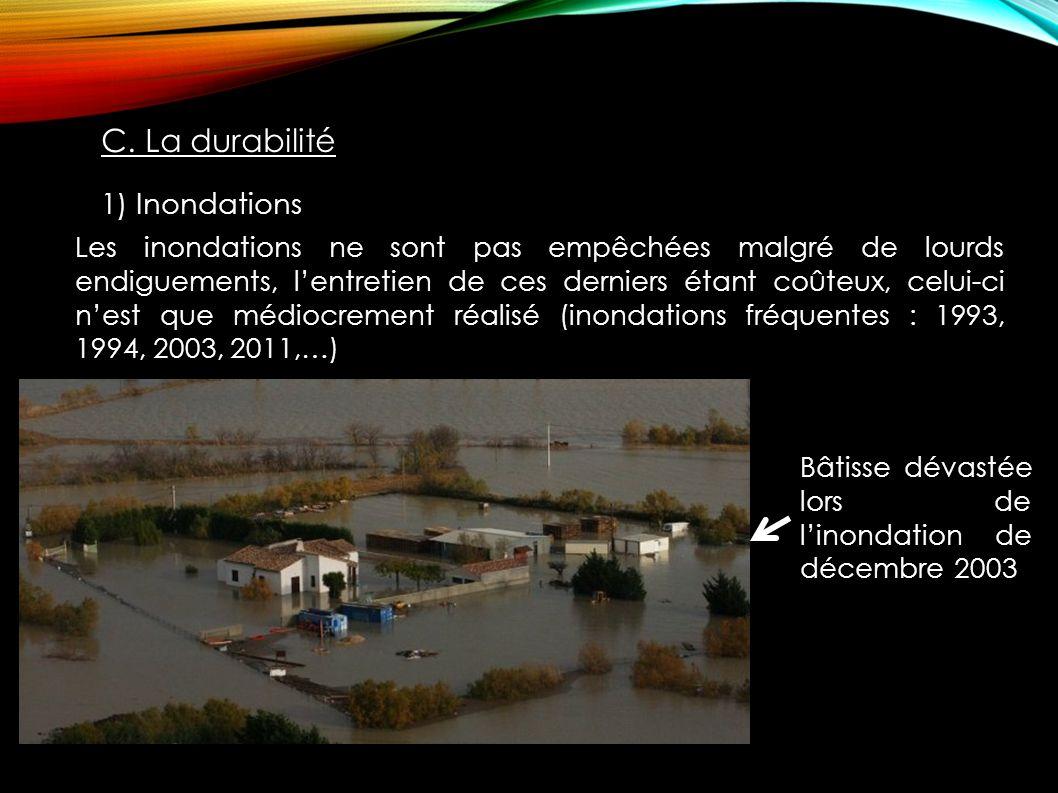 C. La durabilité 1) Inondations
