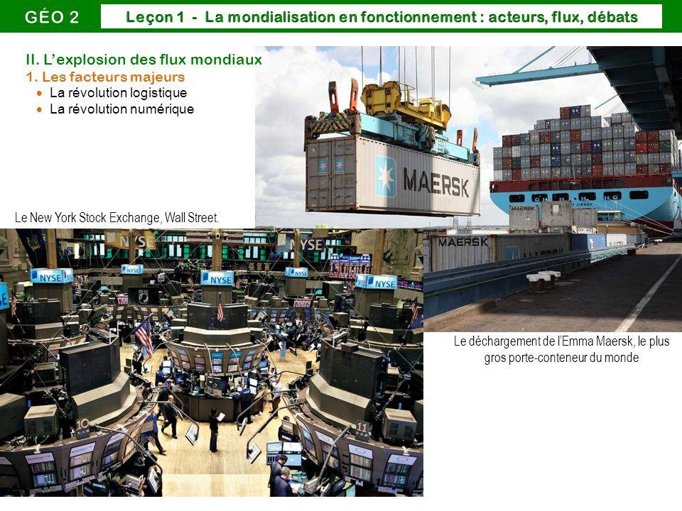 Le on 1 la mondialisation en fonctionnement acteurs - Le plus gros porte conteneur de chez maersk ...