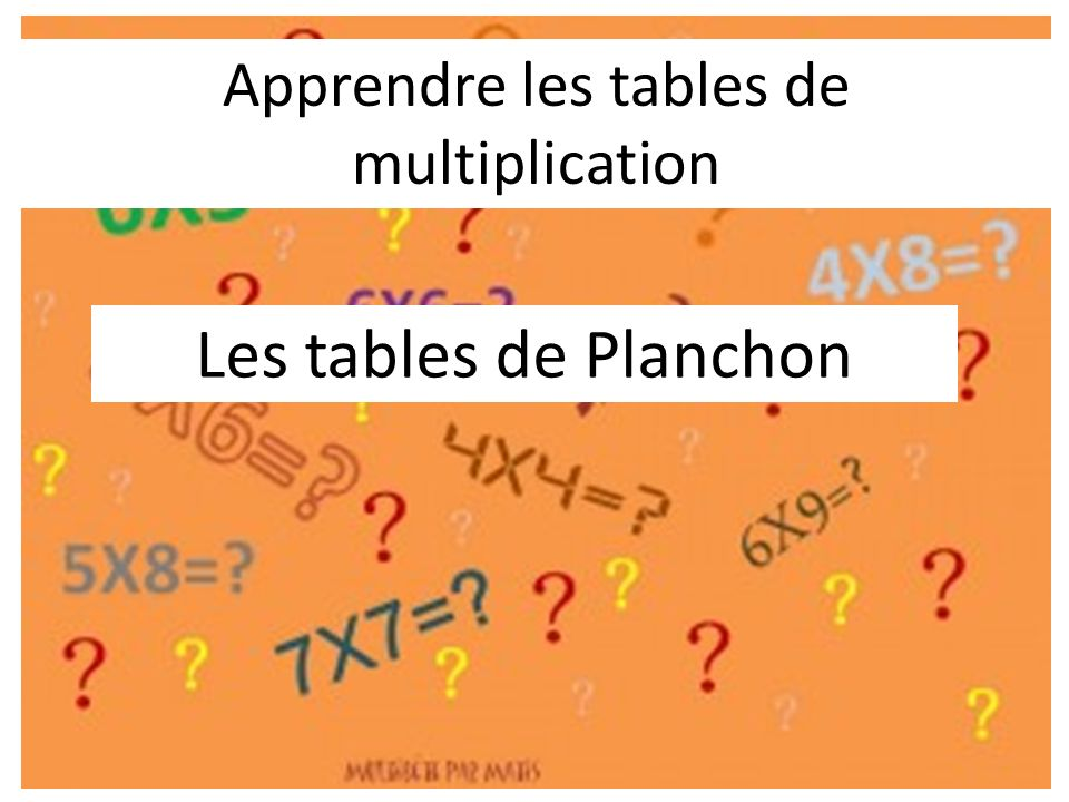 Apprendre les tables de multiplication ppt video online - Apprendre les tables de multiplication ...