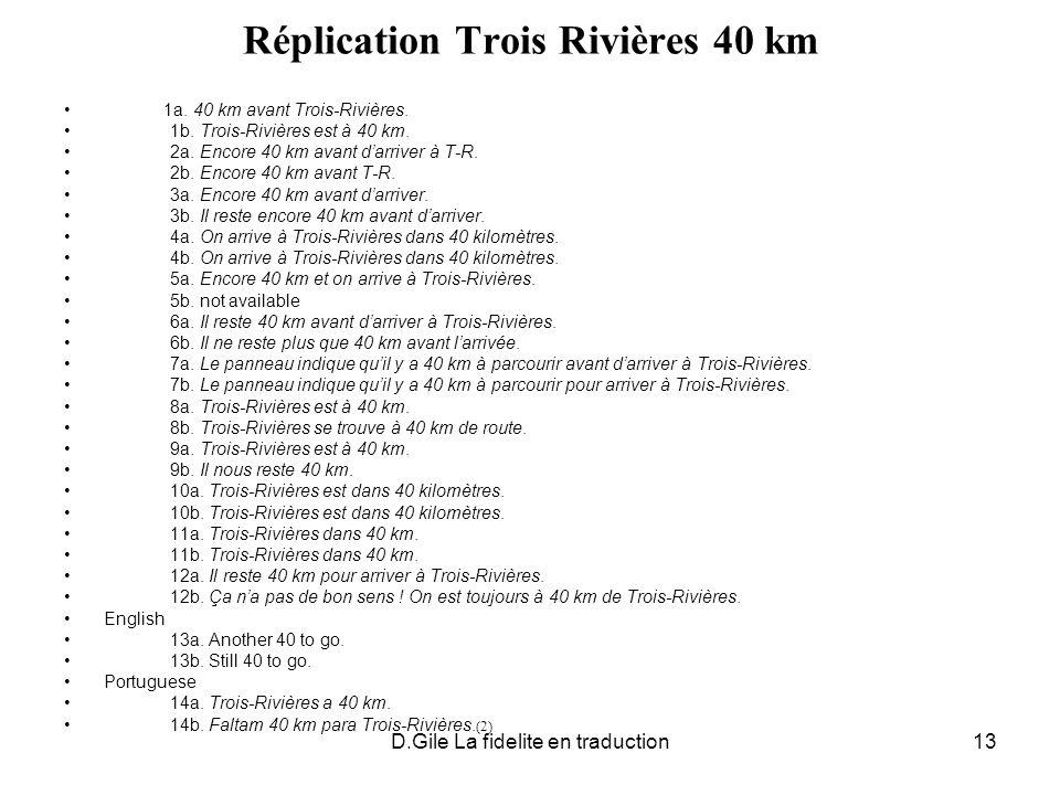 Réplication Trois Rivières 40 km