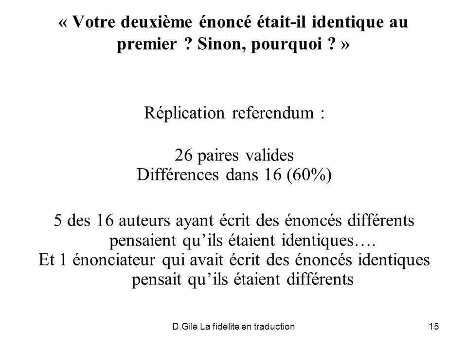 Réplication referendum : 26 paires valides Différences dans 16 (60%)
