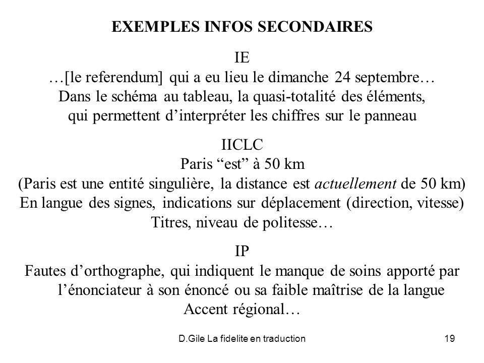 EXEMPLES INFOS SECONDAIRES
