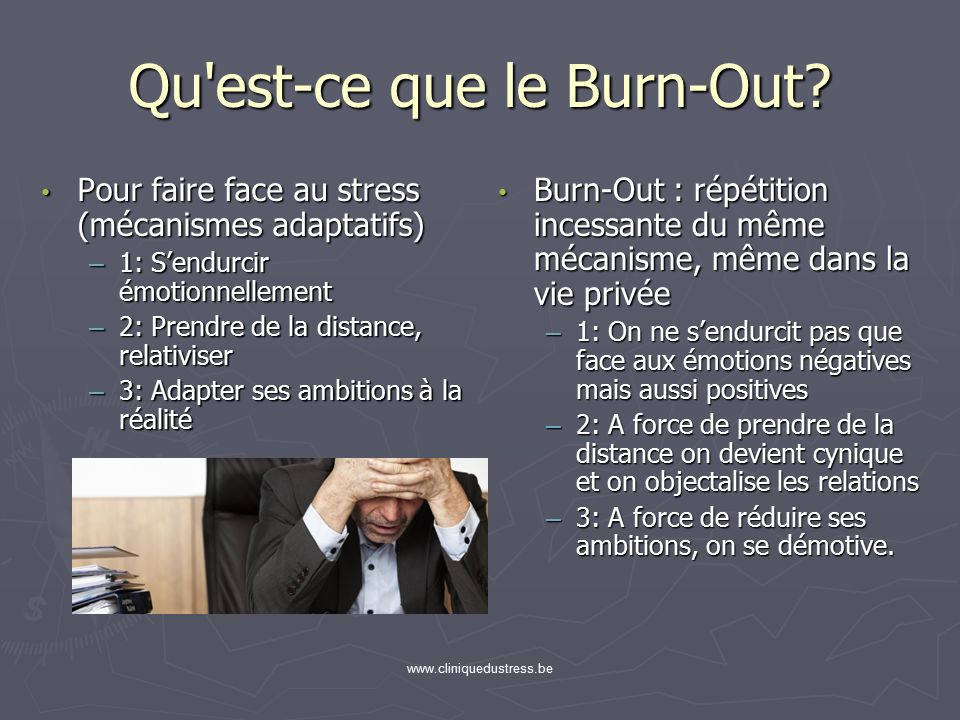 du stress la d pression chronologie de la gen se du burn out ppt video online t l charger. Black Bedroom Furniture Sets. Home Design Ideas