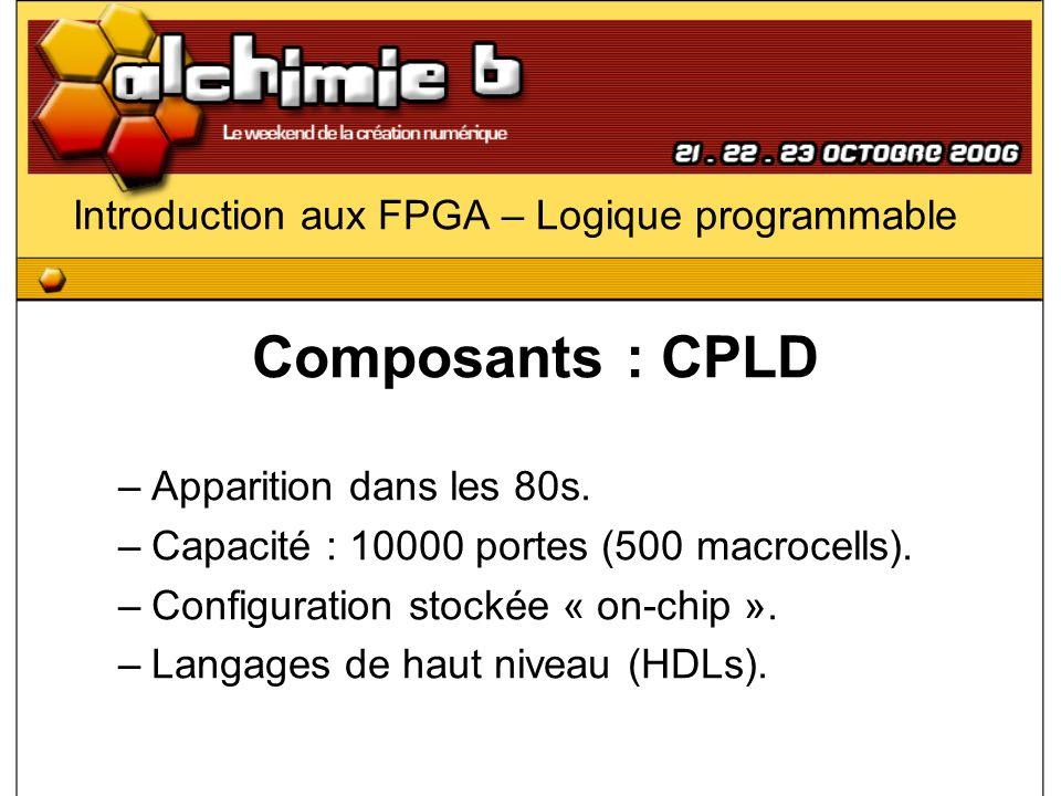 Introduction aux FPGA – Logique programmable