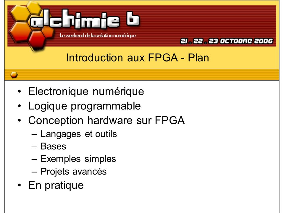 Introduction aux FPGA - Plan