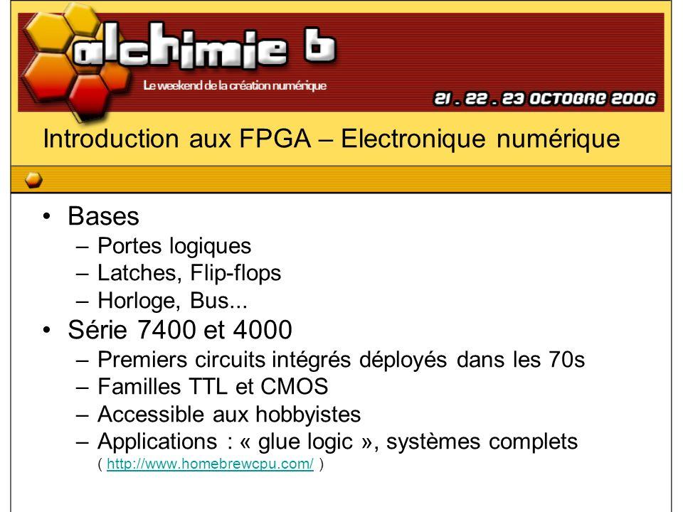 Introduction aux FPGA – Electronique numérique