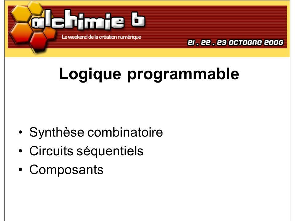 Logique programmable Synthèse combinatoire Circuits séquentiels