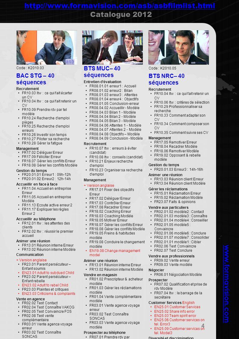 http://www.formavision.com/asb/asbfilmlist.html Catalogue 2012