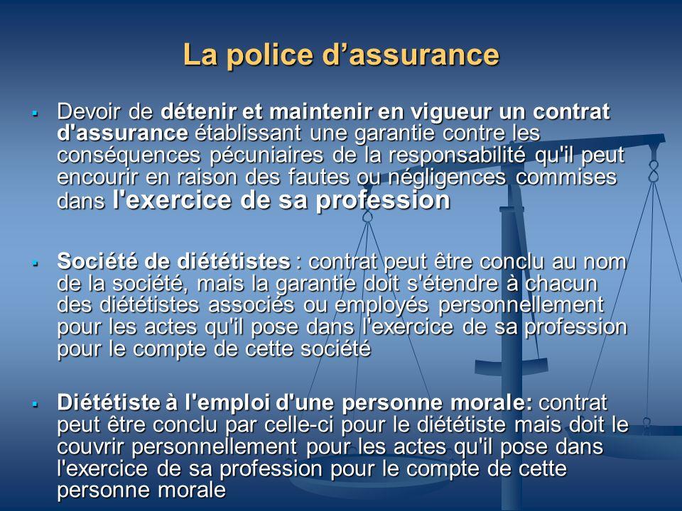 La police d'assurance