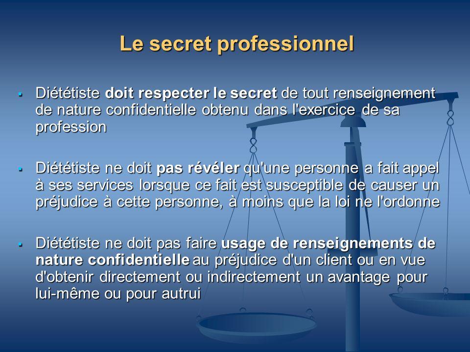 Le secret professionnel
