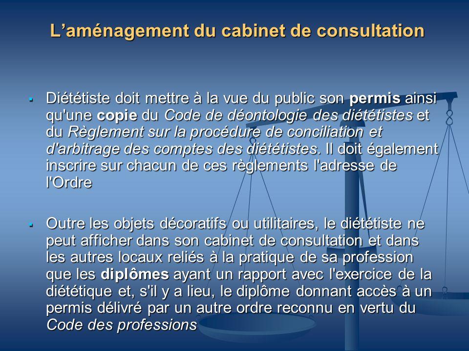L'aménagement du cabinet de consultation