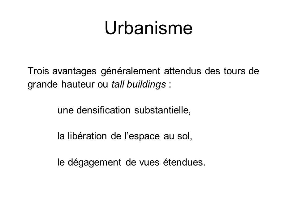Urbanisme Trois avantages généralement attendus des tours de