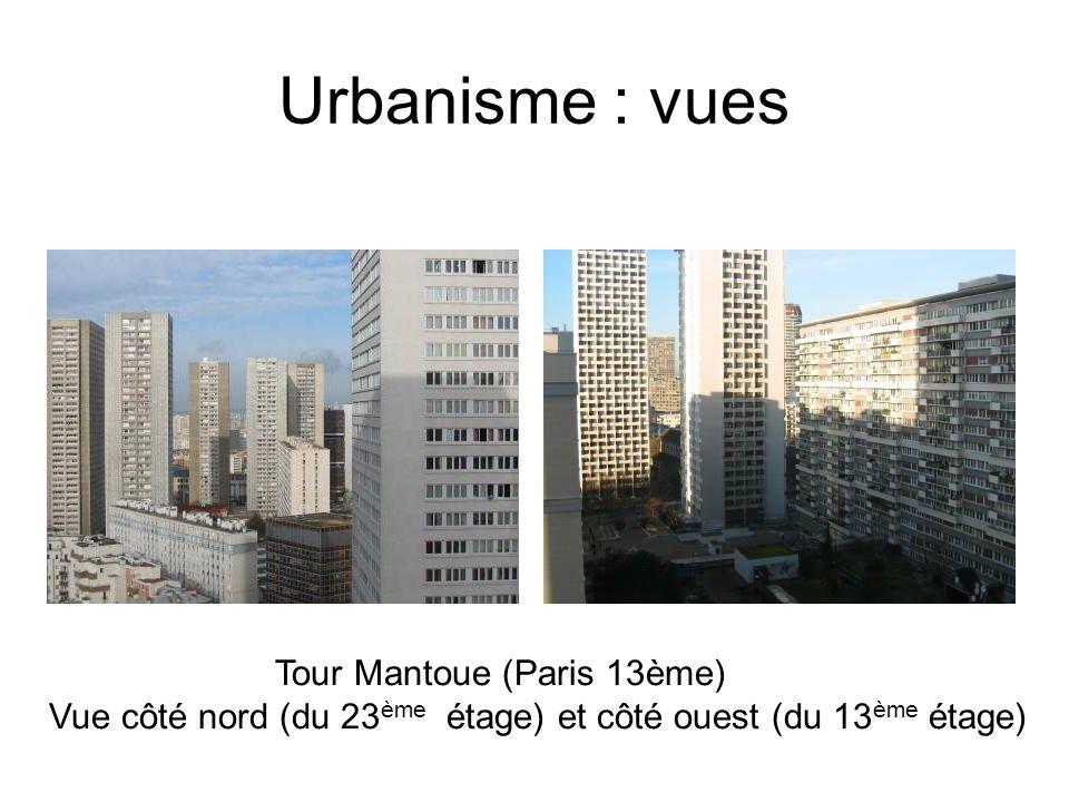 Urbanisme : vues Tour Mantoue (Paris 13ème)