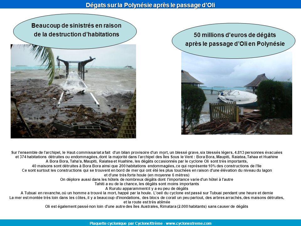 Dégats sur la Polynésie après le passage d'Oli