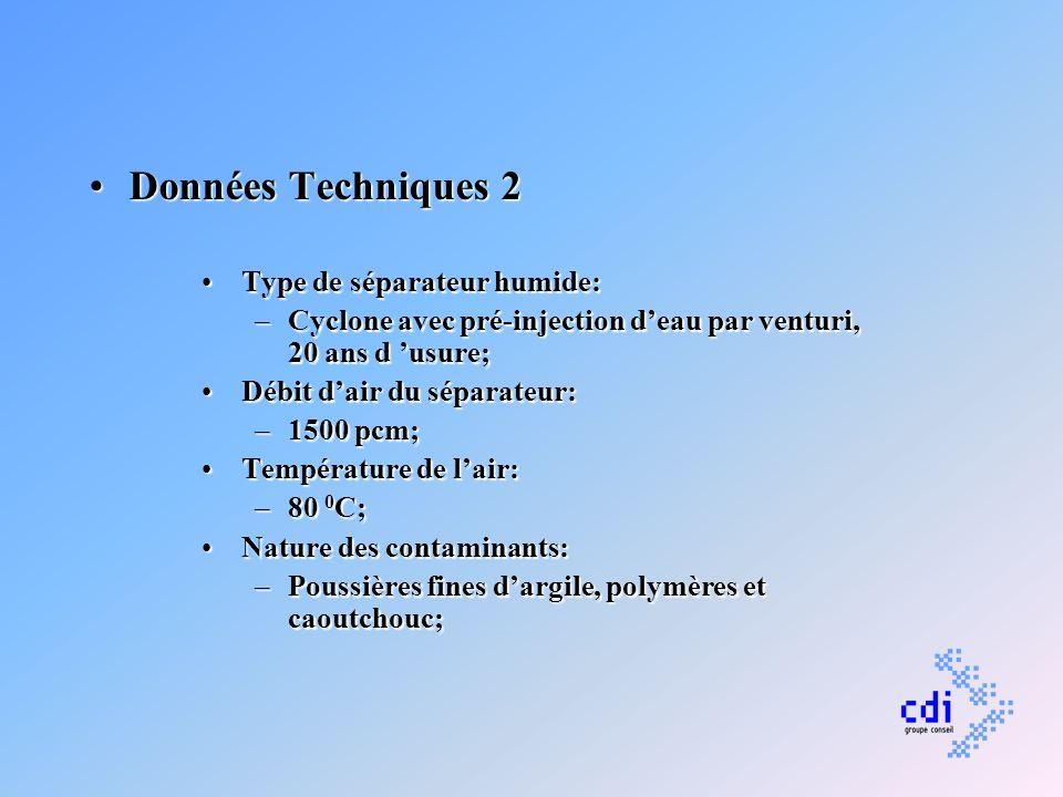 Données Techniques 2 Type de séparateur humide: