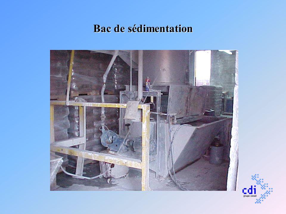 Bac de sédimentation