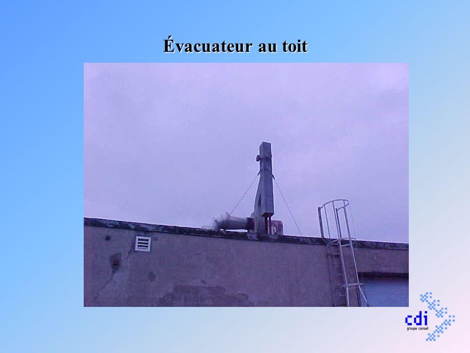 Évacuateur au toit