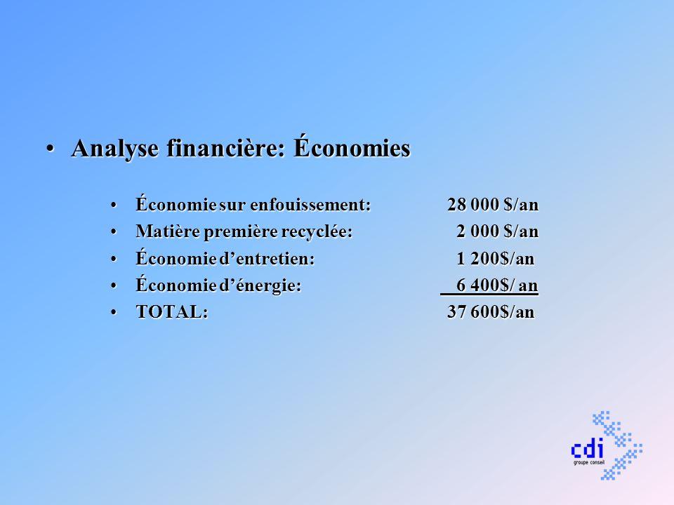 Analyse financière: Économies